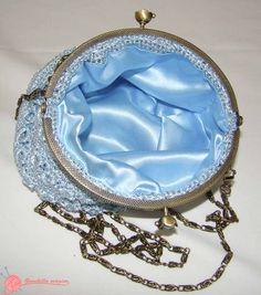 bolso de fiesta ganchillo (1) blue  bag