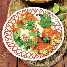 Gevulde tortilla's met tomatensaus  ( Recept van Jamie Oliver via de Allerhande)