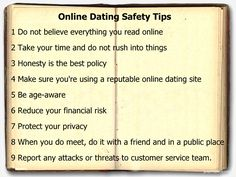 Online dating site safety tips