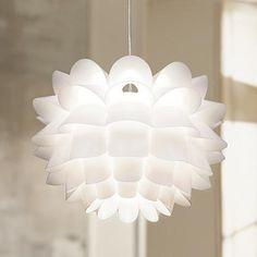"""Possini Euro White Flower 19 1/2"""" Wide Pendant Chandelier - #13022   LampsPlus.com"""