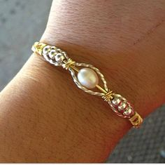 Sterling Silver and Fresh Water Pearl Wire Wrapped Handmade Jewelry