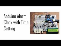 Arduino alarm clock with time setting you will learn to make digital clock using RTC module with alarm and temperature indication Digital Clocks, Alarm Clock, Electronics, Learning, Home Tech, Clock, Projection Alarm Clock, Studying, Alarm Clocks
