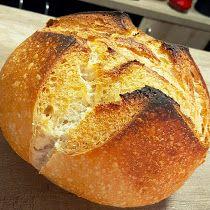 Pão Rústico Fácil na Panela de Ferro