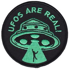 PORK UFOS ARE REAL PATCH $6.00 #patch #ufo #alien