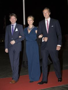 (L-R) Prince Pieter Christiaan of The Netherlands, Princess Carolina and Albert Brenninkmeijer attends a celebration of the reign of Princess Beatrix on 01.02.14 in Rotterdam, Netherlands. On January 31, 2014 Princess Carolina announced she is pregnant