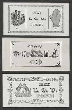 8313af5142c Escort cards from the 19th century Word Puzzles