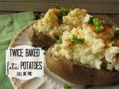 Twice Baked Feta Potatoes #callmepmc