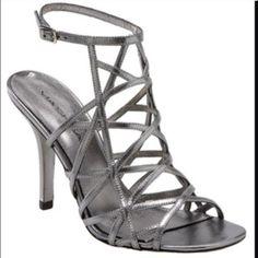"""Metallic Via Spiga Strappy Heels size 9 Pre loved metallic heels great for summer heel at 4"""" Via Spiga Shoes Heels"""