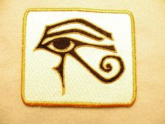 The Eye of Ra (Horus) is an ancient Egyptian symbol of protection, royal power and good health. The fully embroidered patch is 4.06 wide and 3.61
