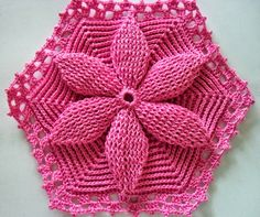 As Receitas de Crochê: Colcha de crochê flor da Mary Dolls