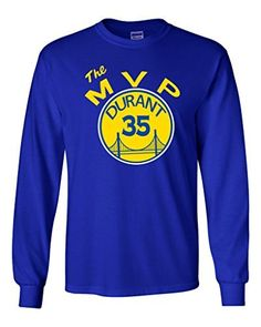 """Long Sleeve Golden State Warriors """"KD MVP"""" T-Shirt YOUTH LARGE"""