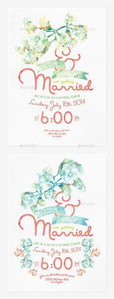 Floral Wedding Invitation III