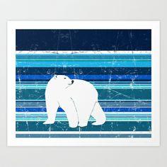 Polar bear horizontal Art Print by Aquamarine Studio - $22.88 Polar bear, white bear, arctic, bear, marine animal, zoo, wild, creature, cold, climate, vulnerable species, endangered, threatened, ursus maritimus, nanook, nanuuk, umka, sea, blubber, carnivore, carnivorous, seal hunting, stripes, boar, sow, wildlife, nature, natural, outdoors, snow, ice, educational, science, biology, eco-tourism, ecology, environmental, environment, digital, paper, collage