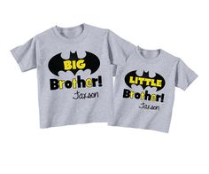 Personalized Big Brother Shirts and Matching by TheCuteTee on Etsy