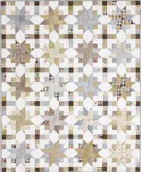 Nature's Stars quilt using 2 1/2 inch strips- video instructions by Fons and Porter