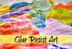 Glue resist art with watercolours