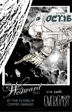 Rock and Roll poster flyer for The Flying M venue in Nampa, ID.