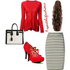 A fashion look from March 2015 featuring Alexander McQueen cardigans, A. skirts and Qupid pumps. Browse and shop related looks. Modest Dresses, Modest Outfits, Classy Outfits, Skirt Outfits, Pretty Outfits, Fall Outfits, Dress Skirt, Casual Outfits, Cute Outfits