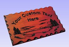 Personalized Custom Carved Wood Sign - Routed Redwood Rustic Plaque Home Decor #RusticPrimitive