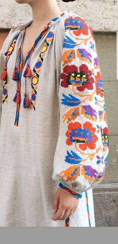 Ethnic Fashion, Boho Fashion, Womens Fashion, Mode Russe, Border Embroidery Designs, Frocks For Girls, Embroidery Fashion, Resort Wear, Look