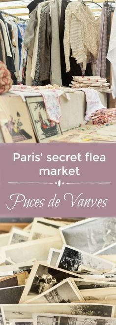 """Visit Paris' Flea Market at Porte de Vanves - the Puces de Vanves is a hidden gem and quite unknown compared to the world famous Puces de St.Ouen in Pari's north. Discover an off beat activity when you're in Paris - explore the south of Paris, including the 15th and 14th arrondissement - a non touristic residential area, that shows you a laid back and authentic side of Paris - a good activity if you are traveling to Paris and wondering """"what to do in Paris"""""""