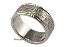 Custom Palladium Fingerprint Wedding Ring or by fabuluster on Etsy Brent&Jess