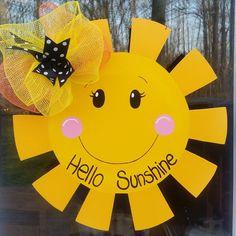 Summer door hanger. Sun Door Hanger. by MoniLulis on Etsy