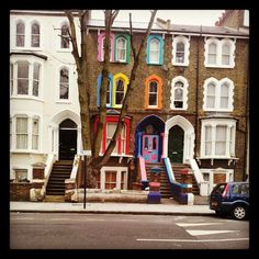 A colorful home in Dalstion