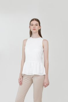 Meghan Ruffle Blouse in White Affordable Fashion, Ruffle Blouse, Spring, Clothes, Tops, Women, Outfits, Clothing, Kleding