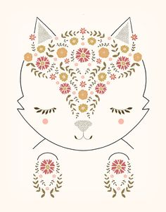 "MEOW    by Kelli Murray  Art Print / MINI (8"" x 10"")    $18.00"