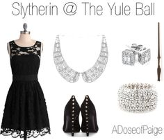 Slytherin @ The Yule Ball except green instead of black