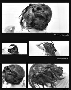 How to Knotted Waterfall Braid Half-Up and Side Bun Chignon Updo