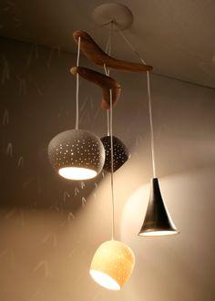 Claylight Boomerang - Four Pendant Chandelier Lighting