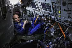 """NASA astronaut Scott Kelly sits in a training simulator in Star City, Russia, March """"The 100 Most Influential People."""" April 27 / May 2015 issue. Marathon Man, Scott Kelly, Time Inc, Best Portraits, Influential People, Time Magazine, Love My Job, Astronomy, The 100"""