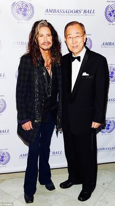 December 2016: The Year I Brought The Rock Star Humanitarian, STEVEN TYLER Face to Face with the World's #1Diplomat, H.E. MR.BAN KI-MOON, Secretary General of the United Nations New York City ~ O...