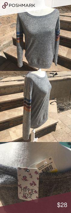 Hippie Rose light sweater Very soft material. Hand wash. Hippie Rose Sweaters Crew & Scoop Necks