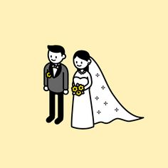 character design yellow pages nz - Yellow Things Wedding Illustration, Couple Illustration, Illustration Sketches, Illustrations And Posters, Digital Illustration, Graphic Illustration, Japanese Illustration, Hand Sketch, Gifs