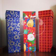 Cajas especiales para regalar botellas de vino u otros objetos alargados.!!
