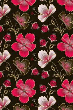 """Hibiscus Hawaii"" by Yantur. To have a colourlovers pattern printed on fabric, go to http://www.colourlovers.com/store/fabric"