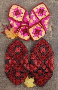 Granny Square Slippers -- free pattern.