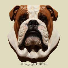 Bulldog inglese cane Bulldog anglais PERITAS di ARTPERITAS su Etsy, $189.00