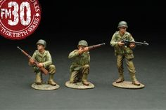 World War II U.S.Infantry Divisions RMA-011 Red Bull Patrol Under Attack - Made by Figarti Military Miniatures and Models. Factory made, hand assembled, painted and boxed in a padded decorative box. Excellent gift for the enthusiast.