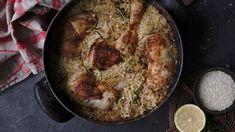Citronové kuře s rýží z jednoho hrnce Iron Pan, Cast Iron, Treats, Chicken, Food, Lemon, Sweet Like Candy, Meal, Essen