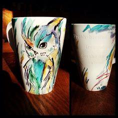 Owl mug made with Sharpie :)