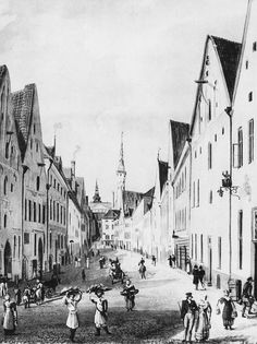 OLD REVAL, 1830. Vene street of medieval Tallinn looks almost the same as it did 190 years ago. First, the street was called Kloostri as it also hides Dominican Monastery (built in 1246) where local children were taught in their native, Estonian language. As the monastery was closed, the street was renamed after Russian (Vene) merchants who had preferred the street since 12th century.