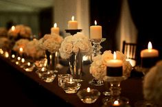 Nothing makes a wedding more romantic than candles