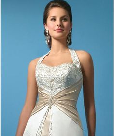 love the top of this dress...not sure about the color change though