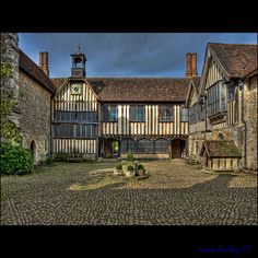 North facing aspect of the quadrangle within Ightham Mote, Kent.