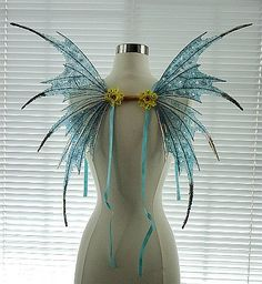 Fairy Wings-Iridescent Turquoise Sprite Adult and Children (Made by Request )
