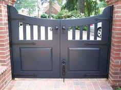 Wooden Driveway Gate with Cane Bolt, Lever, and Strap Hinges